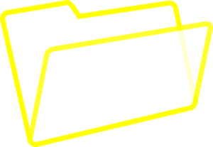 Yellow/white Folder Clip Art
