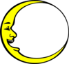 Crescent Moon Smiling Clip Art
