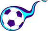 Purple And Teal Flame Soccer Ball Clip Art