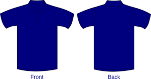 Polo Shirt Blue Clip Art