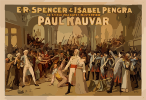 E.r. Spencer & Isabel Pengra In Steele Mackaye S Masterpiece, Paul Kauvar Clip Art