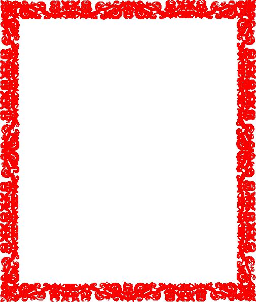 Red Border Design Clip Art at Clker.com - vector clip art online ...