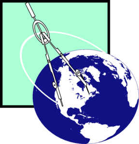 Compass With Earth Clip Art