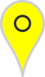 Google Map Pointer Yellow Clip Art