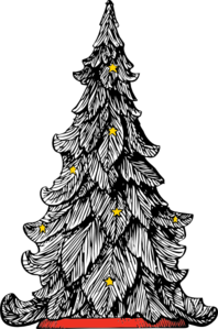 White Christmas Tree Clip Art