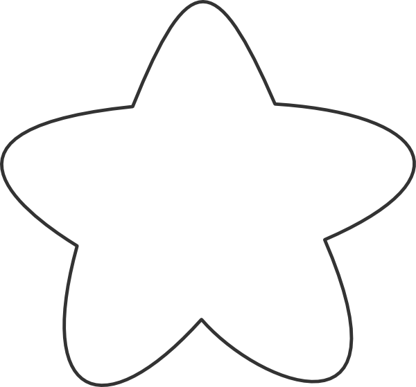 Large Star Clip Art Black and White - Pics about space