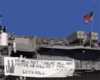 The Amphibious Assault Ship Displays A Banner From Her Stern Quoting President Bush:  We Will Not Tire, We Will Not Falter, We Will Not Fail Clip Art