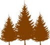 Brown Trees Clip Art
