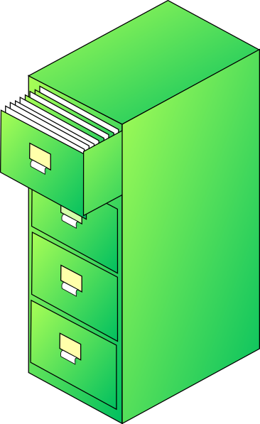 Filing Cabinet Green Clip Art at Clker.com - vector clip ...