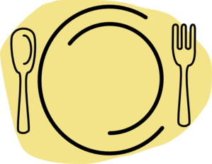 Yellow-cream Plate Clip Art