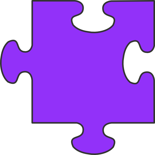 Purple Puzzle Piece Clip Art at Clker.com - vector clip art online ...