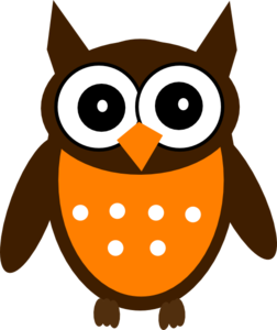 Brown Orange Owl Clip Art