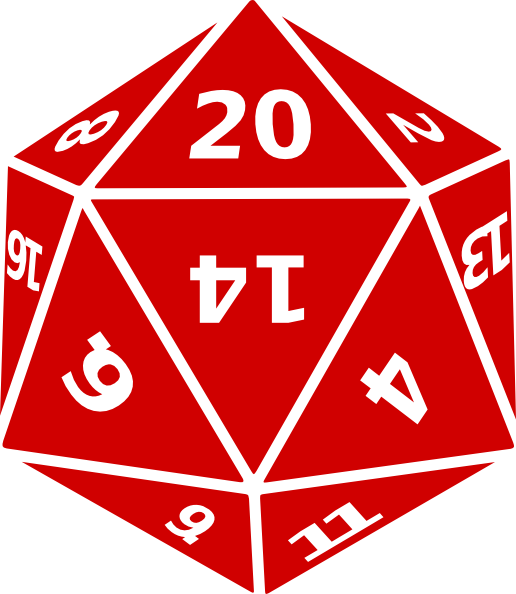30 sided die vs 20 sided die stores
