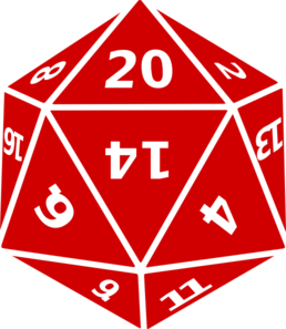 Twenty Sided Dice Clip Art