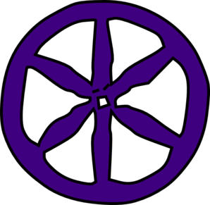 Purple Wheel Clip Art