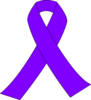 Purple Breast Cancer Ribbon Clip Art