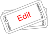 Edit Ticket Button Clip Art