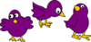 Little Purple Chicks With No Mom Clip Art
