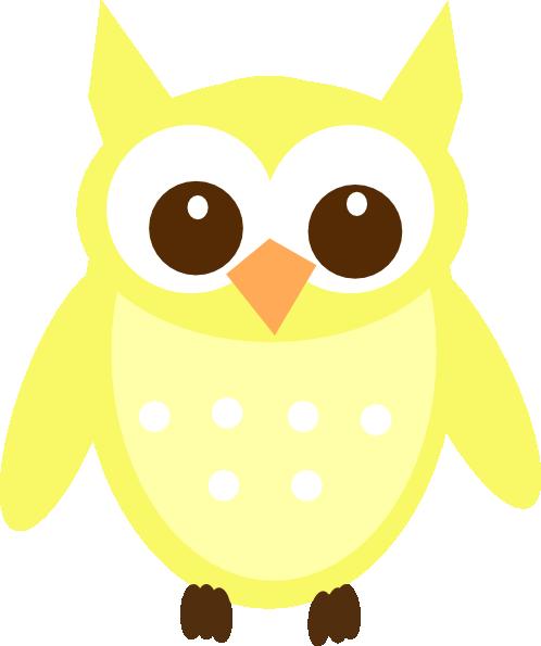 Yellow Intelligent Owl Clip Art at Clker.com - vector clip ...