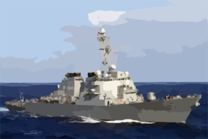 The Guided Missile Destroyer Uss Arleigh Burke (ddg 51) Steams Through The Mediterranean Sea Clip Art