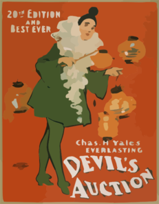 Chas. H. Yale S Everlasting Devil S Auction 20th Edition And Best Ever. Clip Art