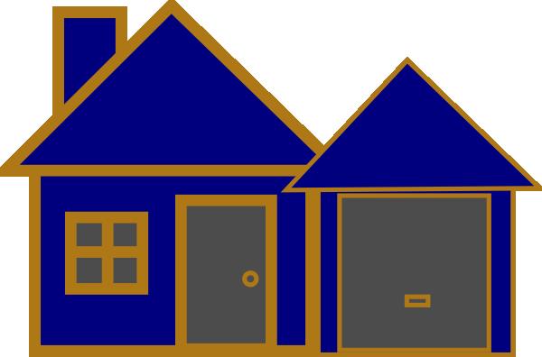 clip art blue house - photo #43
