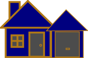House Blue And Gold Clip Art