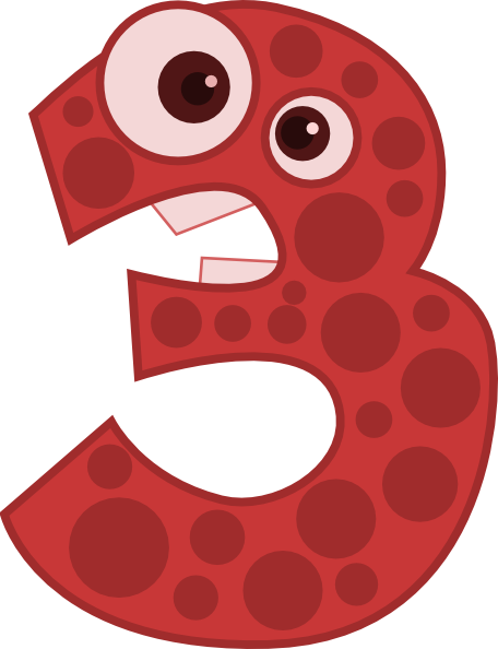 Animal Number Three Clip Art At Clker Com