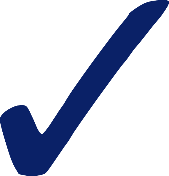 Blue Check Mark - Png Clip Art at Clker.com - vector clip ...