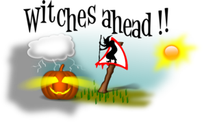Witches Ahead 2 Clip Art