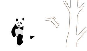 Panda In A Tree Clip Art