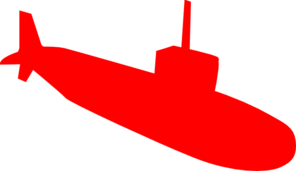 Red Submarine Clip Art at Clker.com - vector clip art online, royalty ...