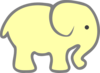 Sunshine Elephant Ellie Clip Art