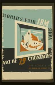 World S Fair Ibm Show Art Of 79 Countries. Clip Art