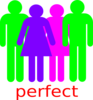 Boy And 2 Girls Stick Figure - Poly Stick People Clip Art