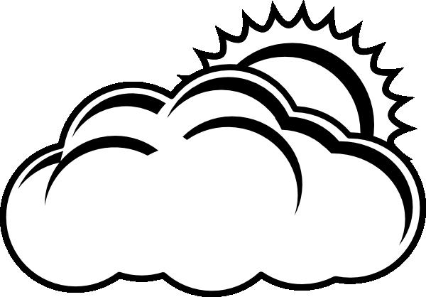 Partly Sunny Forecast Outline Clip Art at Clker.com ...