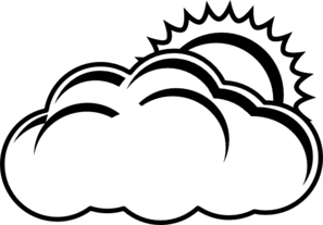 Partly Sunny Forecast Outline Clip Art