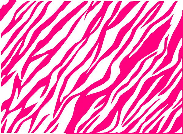 pink and white zebra print background clip art
