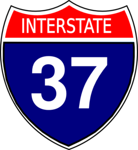 I-37 Sign Clip Art