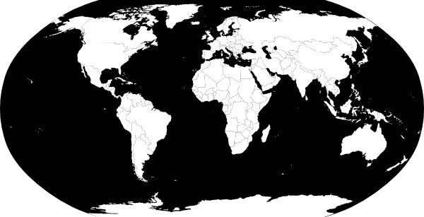World Map Vector B W Clip Art At Clker Com Vector Clip Art Online