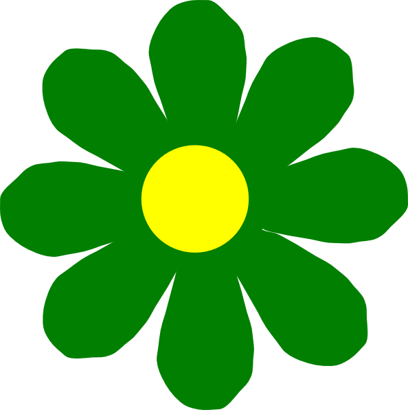 free green flower clipart - photo #12