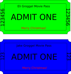 Movie Ticket Clip Art
