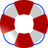 Life Saver Red White Blue Clip Art