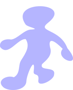 Walking Blue Clip Art