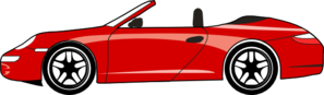 Red Porsche Carrera Gt Clip Art