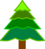4 Layer Green Fir Tree Clip Art