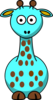 Light Blue Giraffe With 18 Dots-fixed Nose Clip Art