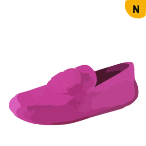 Pink Leather Loafers For Women Cw Clip Art