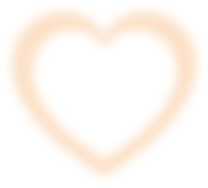 Graffiti Cream Heart Clip Art