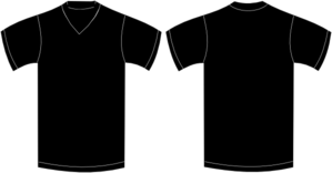 black v neck t shirt template - photo #24